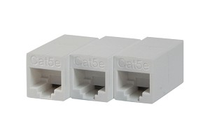 Your Cable Store Cat 5e / RJ45 Inline Crossover Coupler 3 Pack