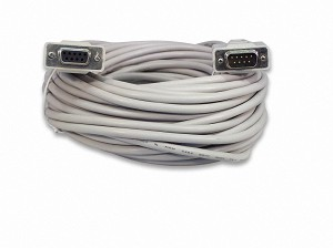 YCS Basics 50 Foot DB9 9 Pin Serial / RS232 Male / Female Extension Cable