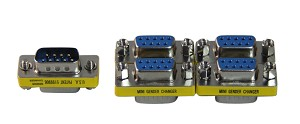 Your Cable Store DB9 (Serial 9 Pin) Male to Female Adapter 5 Pack