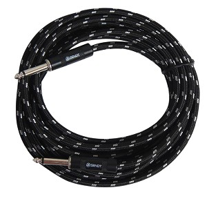 Sendt 18 foot 1/4 inch (6.3mm) Male to Male Mono Nylon Braided Instrument Cable