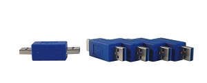 YCS Basics USB 3.0 A Male to A Male Adapter 5 Pack