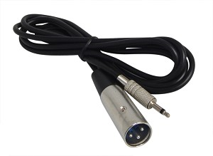 YCS Basics 6 foot xlr male to 3.5mm mono male cable, Unbalanced