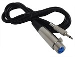 YCS Basics 6 foot xlr female to 3.5mm mono male cable, Unbalanced