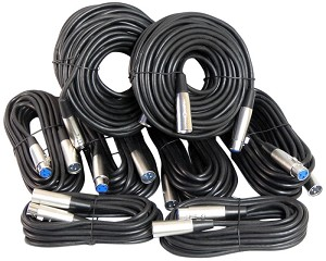 Your Cable Store XLR / Microphone Cable Kit Two 50 ft, Two 15 ft and Four 25 Foot XLR Patch Cables …