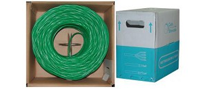 1000 Ft Green 24 AWG Cat 5e Bulk Ethernet Cable UTP / Solid