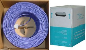 1000 Ft Purple 24 AWG Shielded Cat 5e Ethernet Cable STP / Solid