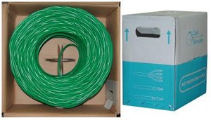 1000 Ft Green Cat 6 Ethernet Cable UTP / Solid
