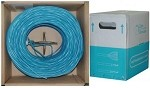 1000 Ft Blue Cat 6 Ethernet Cable UTP / Solid