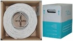 1000 Ft White Cat 6 Ethernet Cable UTP / Solid