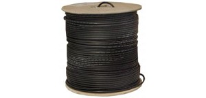 1000 Ft Black 20 AWG RG58 U Stranded Braided Coaxial Cable Spool