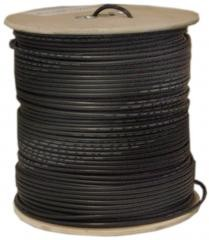 1000 Ft Black RG59 Siamese Coaxial / CCTV Cable 18/2 (18AWG 2C)  Spool