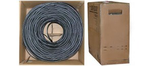 1000 Ft Black 18 AWG RG6 Solid Coaxial Cable Pullbox