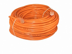 Orange 100 Foot Cat 5e 350MHz Snagless Ethernet Cable
