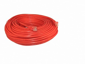Red 100 Foot Cat 5e 350MHz Snagless Ethernet Cable