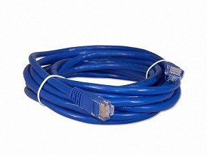 Blue 14 Foot Cat 5e 350MHz Snagless Ethernet Cable
