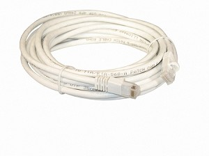 White 15 Foot Cat 5e 350MHz Snagless Ethernet Cable