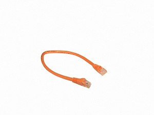 Orange 1 Foot Cat 5e 350MHz Snagless Ethernet Cable