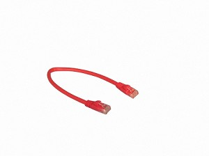 Red 1 Foot Cat 5e 350MHz Snagless Ethernet Cable