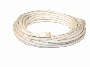 White 35 Foot Cat 5e 350MHz Snagless Ethernet Cable
