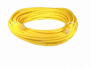 Yellow 35 Foot Cat 5e 350MHz Snagless Ethernet Cable