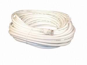 White 50 Foot Cat 5e 350MHz Snagless Ethernet Cable