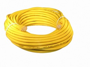 Yellow 50 Foot Cat 5e 350MHz Snagless Ethernet Cable