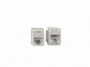 White Keystone Inline Ethernet CAT 5e / RJ45 Coupler