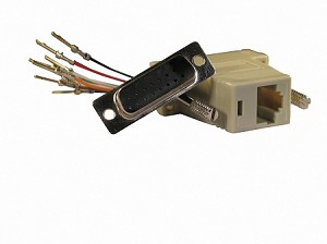 Beige Wire Your Own Adapter Box DB15 Male To RJ45 Female