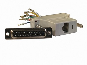 Gray Wire Your Own Adapter Box DB25 Female To RJ45 Female