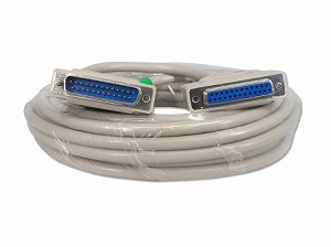 25 Foot DB25 25 Pin Serial Port Cable Male / Female RS232