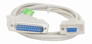 6 Foot DB9 Female / DB25 Male Serial Port Cable RS232