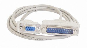 Your Cable Store 6 Foot DB9 Female / DB25 Male Null Modem Serial Cable RS232