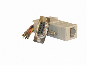 Gray Wire Your Own Adapter Box DB9 Female To RJ45 Female
