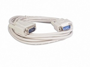 10 Foot DB9 9 Pin Serial Port Cable Male / Male RS232