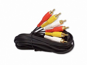12 Foot RCA Audio / Video Cable 3 Male To 3 Male
