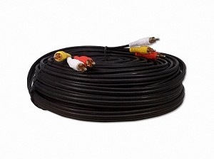 75 Foot RCA Audio / Coax Video Cable 3 Male To 3 Male