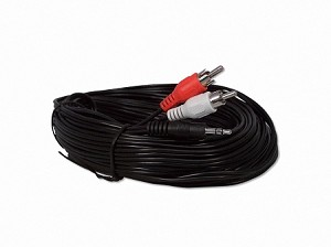 50 Foot 3.5mm Stereo Headphone To RCA Adapter Cable
