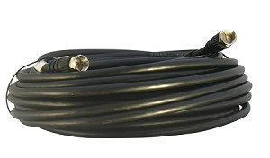 Black 50 Foot F-Pin RG59 Coaxial Cable