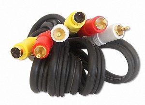 6 Foot S-Video / RCA Audio Video Cable Gold Plated