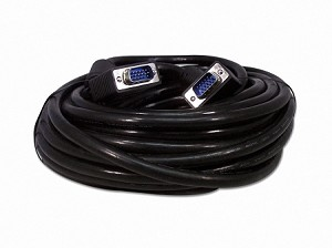 50 Foot SVGA Male / Male Monitor Cable Shielded With Ferrites