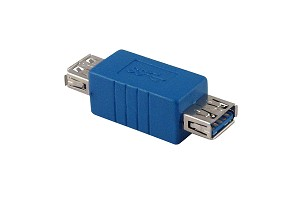 Blue USB 3.0 Female A To Female A  Adapter / Coupler