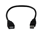 Black 1 Foot USB 2.0 High Speed Extension Cable