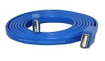 YCS Basics blue 6 foot USB 2.0 male to female flat nickel plated cable