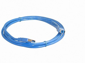 Blue 6 Foot USB 3.0 Super Speed Printer / Scanner Cable