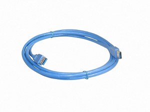 Blue 6 Foot USB 3.0 Super Speed Male A To Male A Cable