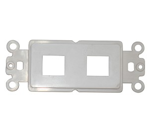 Decora Wall Plate Insert, White, 2 Hole for Keystone Jack