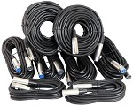 Audio XLR/Mic Cable Kit With two 15 Foot, Four 25 Foot and Two 50 foot XLR Patch Male Female Cables