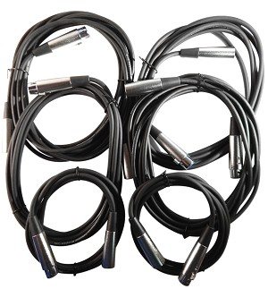Your Cable Store XLR / Microphone Cable Kit Two 6 ft, Two 10 ft and Two 15 Foot XLR Patch Cables …