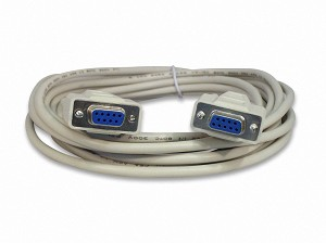 15 Foot DB9 9 Pin Serial Port Cable Female / Female RS232