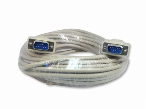 50 Foot DB9 9-Pin Serial Port Cable Male / Male RS232